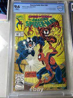 13 Amazing Spider-man Comic Lot 298 299 300 361 1st Venom Carnage CGC Newsstand