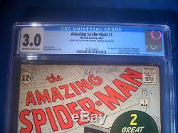 1963 Amazing SPIDER-MAN #1 Marvel Comics CGC 3.0 GD/VG 1st ORIGIN CHAMELEON