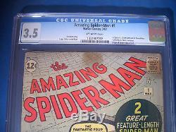 1963 Amazing SPIDER-MAN #1 Marvel Comics CGC Graded 3.5 VG- CHAMELEON
