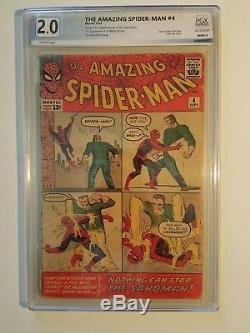 1963 Amazing Spider-Man 4 2.0 PGX 1st Sandman Not CGC/CBCS