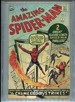 1963 Marvel The Amazing Spider-man #1 1st App Jonah Jameson & Chameleon Cgc 1.8