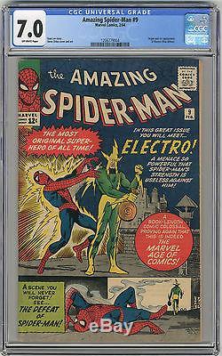 1964 Amazing Spider-Man 9 CGC 7.0 1st Electro