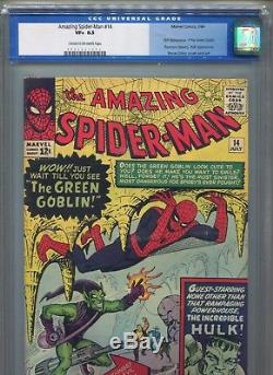 1964 Marvel Amazing Spider-man #14 1st Appearance Green Goblin Cgc 8.5 Unpressed