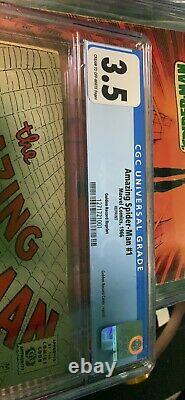 1966 amazing spiderman #1 (CGC 3.5) golden record reprint