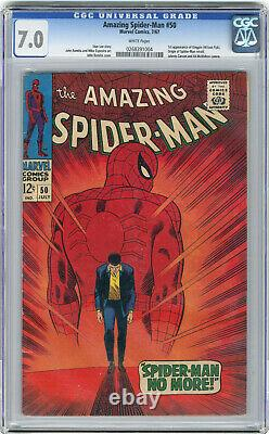 1967 Amazing Spider-Man 50 CGC 7.0 1st Kingpin White Pages