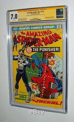 1974 Amazing Spider Man 129 Signature Series Signed Stan Lee & Rometa Cgc 7.0