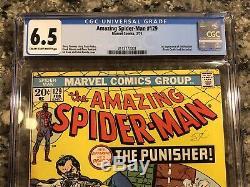 1974 Amazing Spider-Man 129 CGC 6.5 1st Punisher