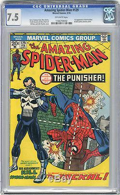 1974 Amazing Spider-Man 129 CGC 7.5 1st Punisher