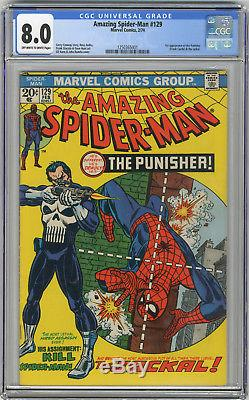 1974 Amazing Spider-Man 129 CGC 8.0 1st Punisher