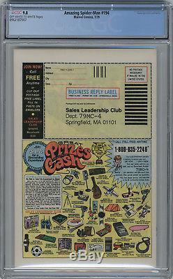 1979 Amazing Spider-Man 194 CGC 9.8 1st Black Cat