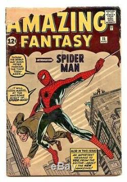 AMAZING FANTASY #15 1.8 CGC UNIVERSAL FIRST APPEARANCE OF SPIDER-MAN OWithW PAGES