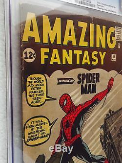 Amazing Fantasy 15 1962 Unrestored Cgc 3.0- First Spider-man, Bright Copy