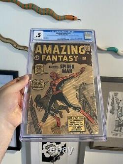 AMAZING FANTASY #15 CGC. 5 1ST APPEARANCE SPIDER-MAN Complete No Missing Pages