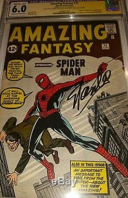 Amazing Fantasy 15 Cgc Ss Stan Lee Signed