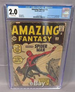 AMAZING FANTASY #15 (Spider-Man 1st appearance) CGC 2.0 GD Marvel Comics 1962
