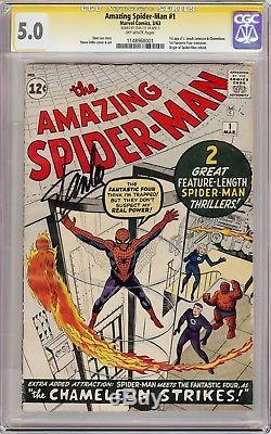 AMAZING SPIDER-MAN #1 1ST J JONAH JAMESON (1963) CGC 5.0 SS Signed Stan Lee