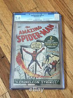 Amazing Spider-man 1 Cgc 2.0 Unrestored. Nice For The Grade