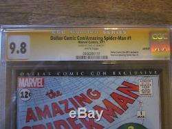 AMAZING SPIDER-MAN #1 CGC 9.8 SS Signed STAN LEE Dallas Comic Con
