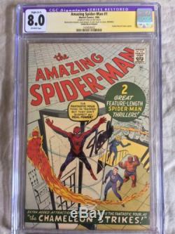AMAZING SPIDER-MAN #1 CGC SS 8.0 GRR LAST NYCC Signing STAN LEE! GRR