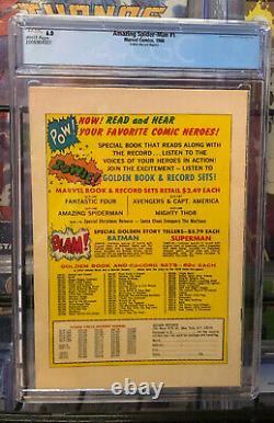 AMAZING SPIDER-MAN #1 COMIC (1963) Grade CGC 6.0 Golden Record Reprint