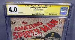 AMAZING SPIDER-MAN #1 (Stan Lee Signed, 1st app Chameleon) CGC 4.0 Marvel 1963
