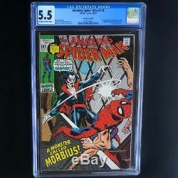 AMAZING SPIDER-MAN #101 (1971) CGC 5.5 RARE UK PRICE VARIANT! 1st Morbius