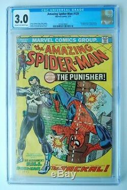 AMAZING SPIDER-MAN #129 CGC 3.0 1st App. Punisher