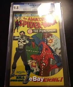 AMAZING SPIDER-MAN #129 CGC 9.8 KEY ISSUE, 1ST PUNISHER, 1ST Jackal 1974