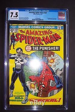 AMAZING SPIDER-MAN #129 Marvel CGC 7.5. 1st PUNISHER appearance