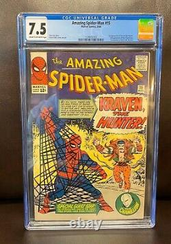 AMAZING SPIDER-MAN #15 CGC 7.5 1st App KRAVEN