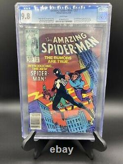 AMAZING SPIDER-MAN 252 CGC 9.8! 1ST BLACK COSTUME! (Small crack in case)