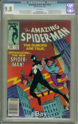 AMAZING SPIDER-MAN #252 (Marvel Comics, 1084) CGC Graded 9.8! Spidey in black
