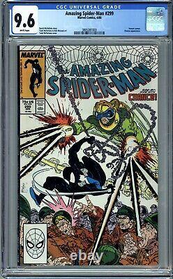 AMAZING SPIDER-MAN #299 (1988) CGC 9.6 NM+ 1st CAMEO VENOM, TODD McFARLANE ART