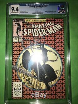AMAZING SPIDER-MAN #300 (1988) ORIGIN & 1st FULL APP. OF VENOM CGC NM 9.4 OWithWP