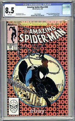 AMAZING SPIDER-MAN #300 CGC 8.5 VF+ WHITE PAGES 1ST VENOM by TODD McFARLANE! KEY