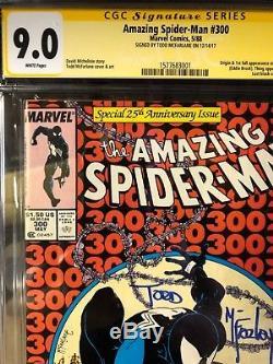 AMAZING SPIDER-MAN #300 CGC 9.0 SS BY TODD MCFARLANE! NEWSTAND! VENOM! Rare