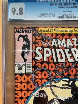 AMAZING SPIDER-MAN #300 CGC 9.8 FIRST appearance VENOM WHITE PAGES NM comic MINT