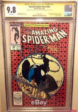 AMAZING SPIDER-MAN # 300 cgc 9.8, 2x ss Stan Lee & Todd Mcfarlane Sig 1st Venom
