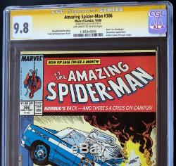 AMAZING SPIDER-MAN #306 CGC 9.8 SS SIGNED by STAN LEE RARE! Marvel 1988