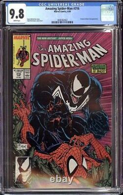 AMAZING SPIDER-MAN #316 CGC 9.8 NM/MT, 1ST FULL VENOM CLASSIC COVER by McFARLANE