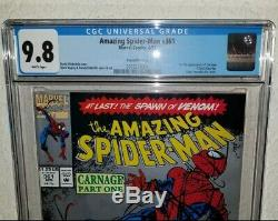 AMAZING SPIDER-MAN #361 2nd print CGC 9.8 NM/MT 1st Appearance of CARNAGE Marvel