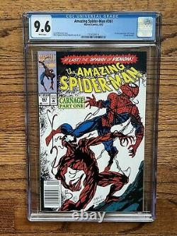 AMAZING SPIDER-MAN #361 CGC 9.6 WHITE PAGES 1st Appearance Carnage NEWSSTAND