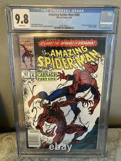 AMAZING SPIDER-MAN #361 CGC 9.8 White Pgs NEWSSTAND 1st Carnage Venom Marvel