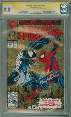 AMAZING SPIDER-MAN #375 CGC 9.8 SIGNATURE SERIES SIGNED x2 STAN LEE VENOM MOVIE