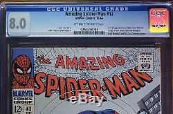 AMAZING SPIDER-MAN #43 (12/66), CGC 8.0 OWithW 1st FULL APP OF MARY JANE WATSON