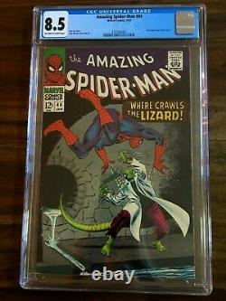 AMAZING SPIDER-MAN #44 CGC 8.5 VF+ Marvel Silver Age 1/67 OWithW 2nd App Lizard