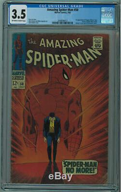 AMAZING SPIDER-MAN #50 CGC 3.5 1ST KINGPIN OWithW PGS 1967