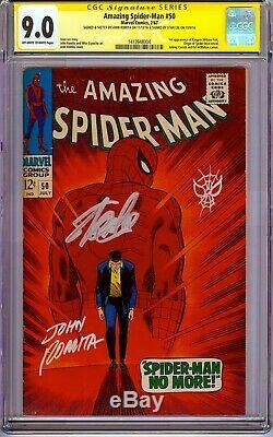 AMAZING SPIDER-MAN #50 CGC 9.0 1967 SS X2 Signed by Stan Lee, John Romita Sketch