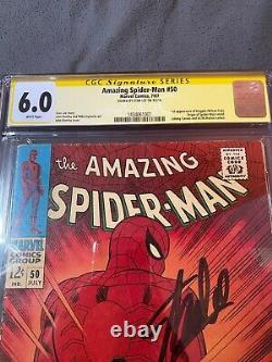 AMAZING SPIDER-MAN #50 CGC SS by Stan Lee 6.0