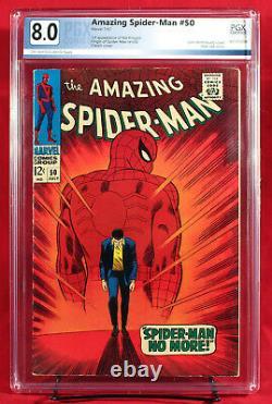 AMAZING SPIDER MAN # 50 PGX 8.0 VF Very Fine FIRST KINGPIN + CGC! UNPRESSED
